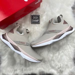 Puma LQDCELL Shatter Mid Rose Gold Sneakers